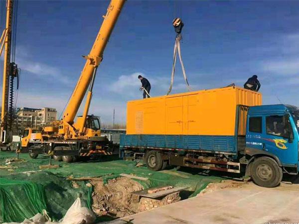 濮阳万科工程建设租赁一台大型静音发电
