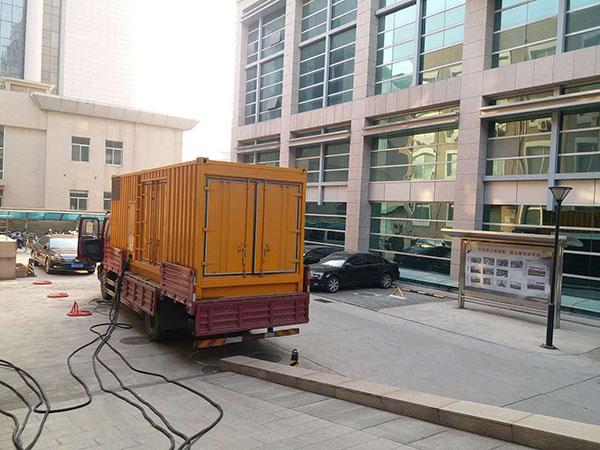 濮阳马村县静音发电机出租案列